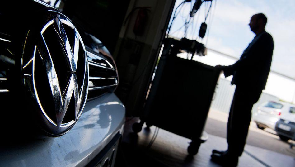Umrüstaktion bei einem Diesel-VW