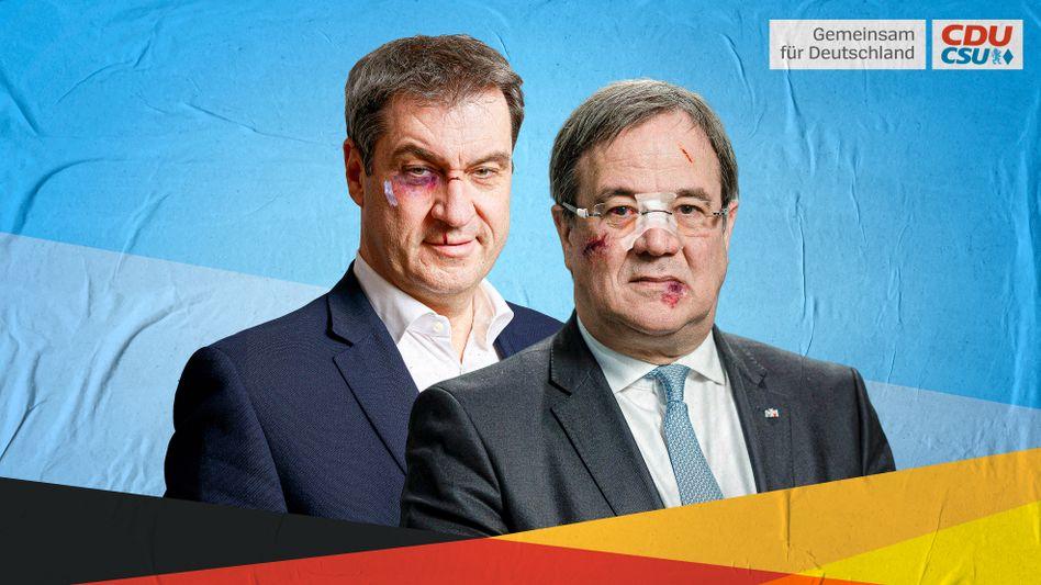 Parteichefs Söder und Laschet: Es geht nur noch ums Gewinnen, ohne Rücksicht auf Verluste
