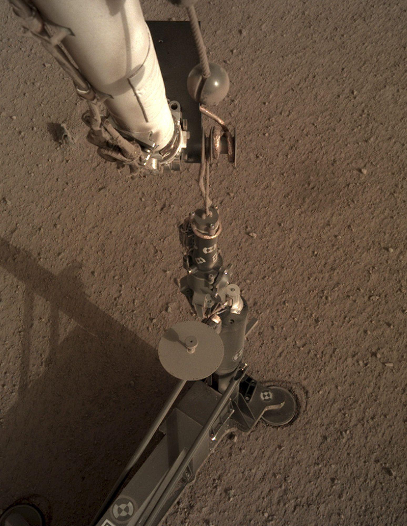 Roboter-Maulwurf gräbt auf dem Mars