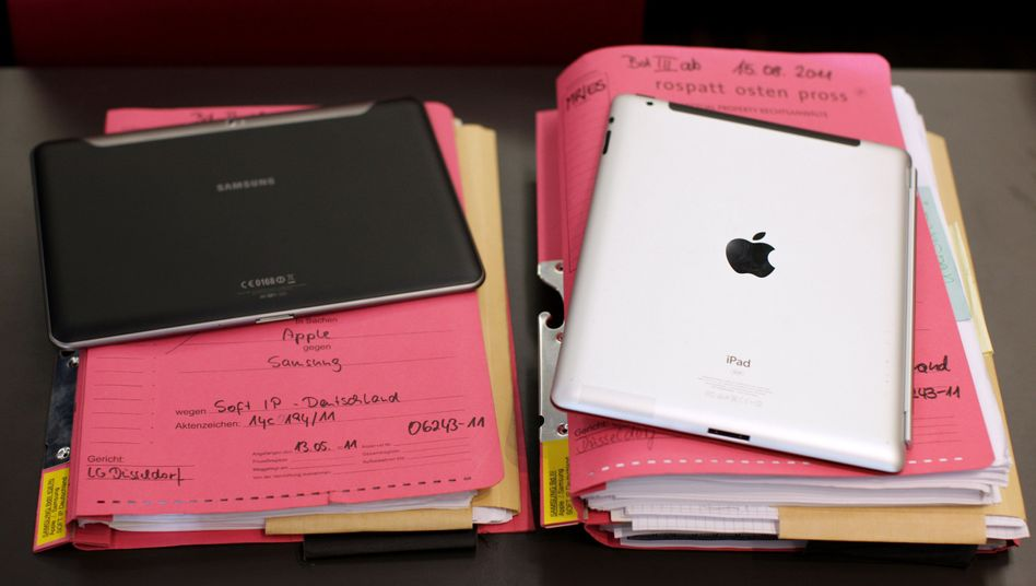 Tablet-Rechner auf Gerichtsunterlagen: Samsung erstreitet einen Sieg gegen Apple