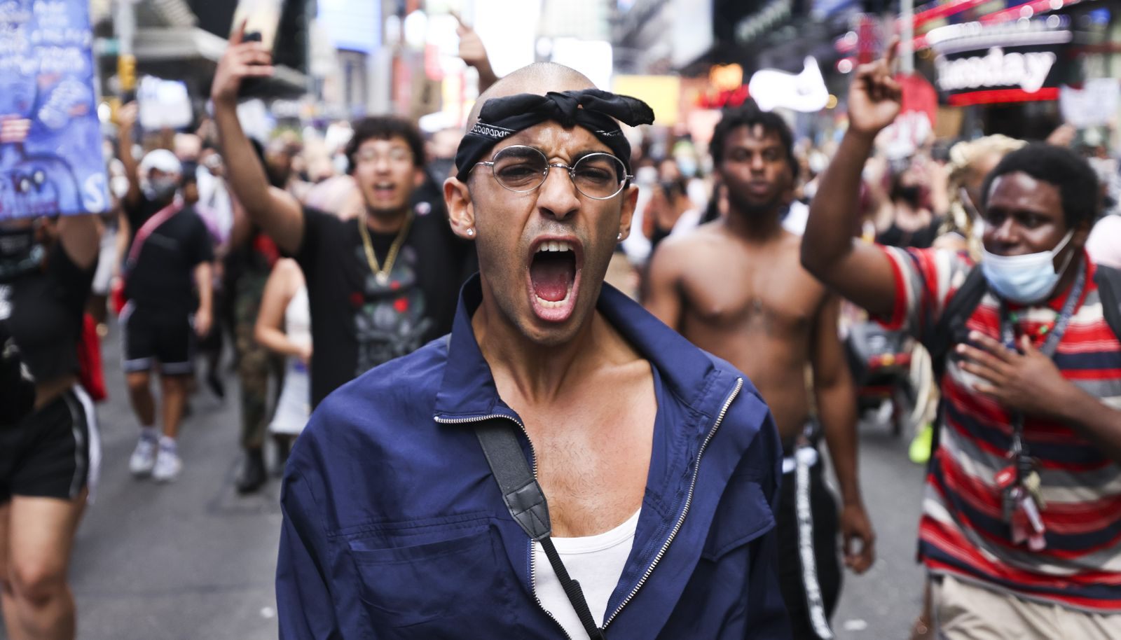 New York Protest In Response to Jacob Blake Shooting, USA - 24 Aug 2020