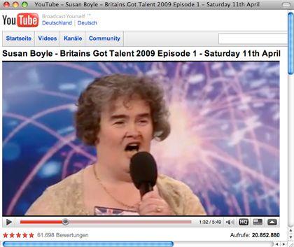 Erst erzählte sie von ihren Katzen, dann schmetterte sie los: Casting-Teilnehmerin Susan Boyle