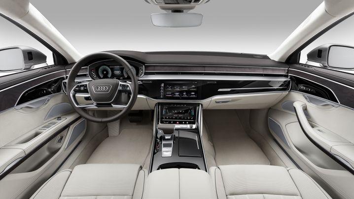 Versteckte Lüfterdüsen im Cockpit des neuen Audi A8