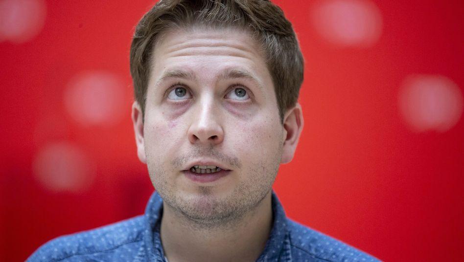 Juso-Chef Kevin Kühnert sorgt sich um seine Partei