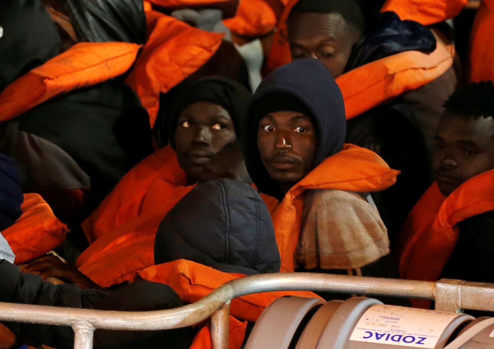 Rescued migrants amid the spread of coronavirus disease (COVID-19) in Senglea