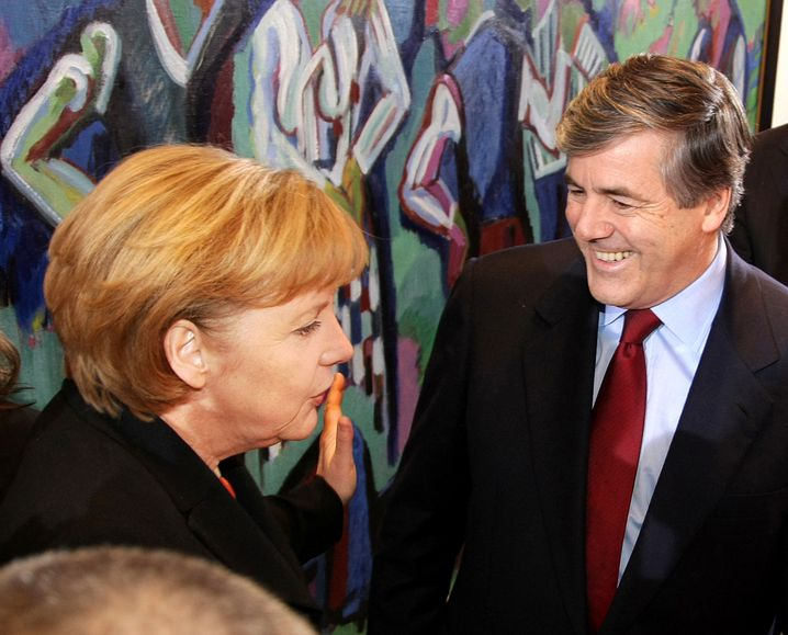 Ackermann 2008 mit Bundeskanzlerin Angela Merkel