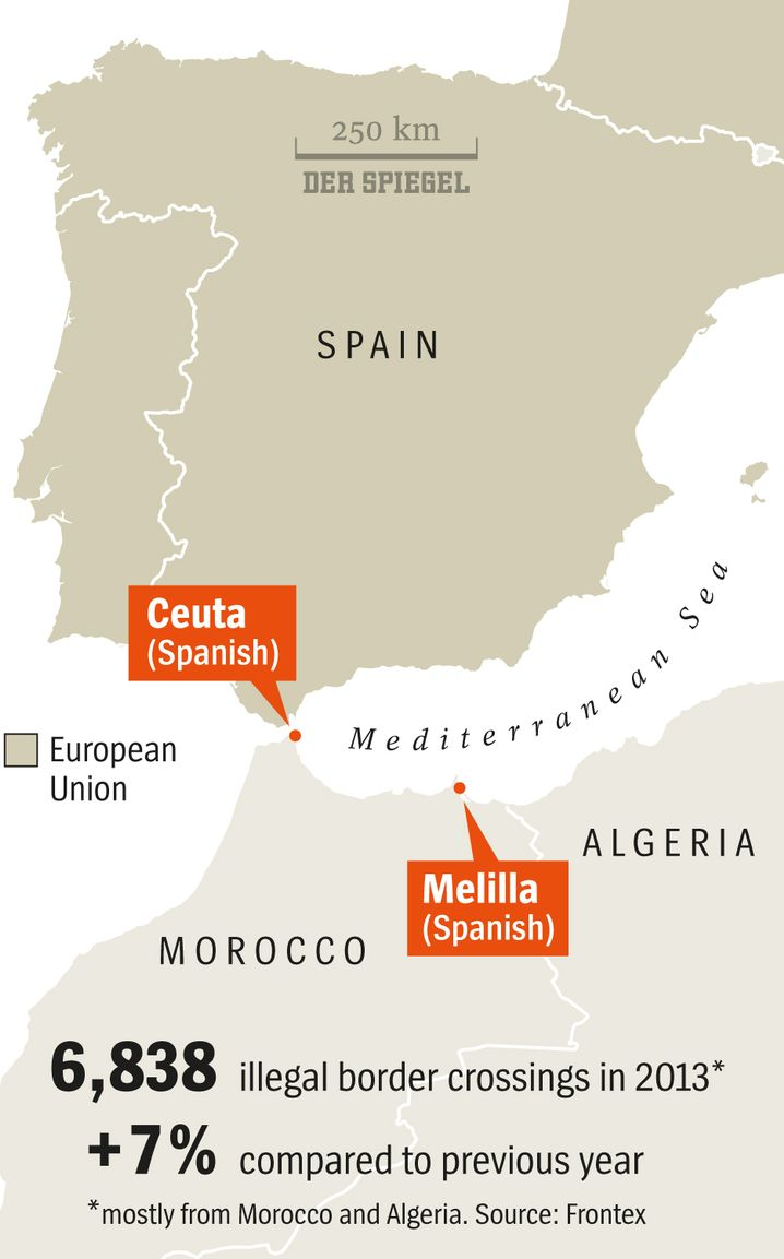 Graphic: Spain's Border Exclaves
