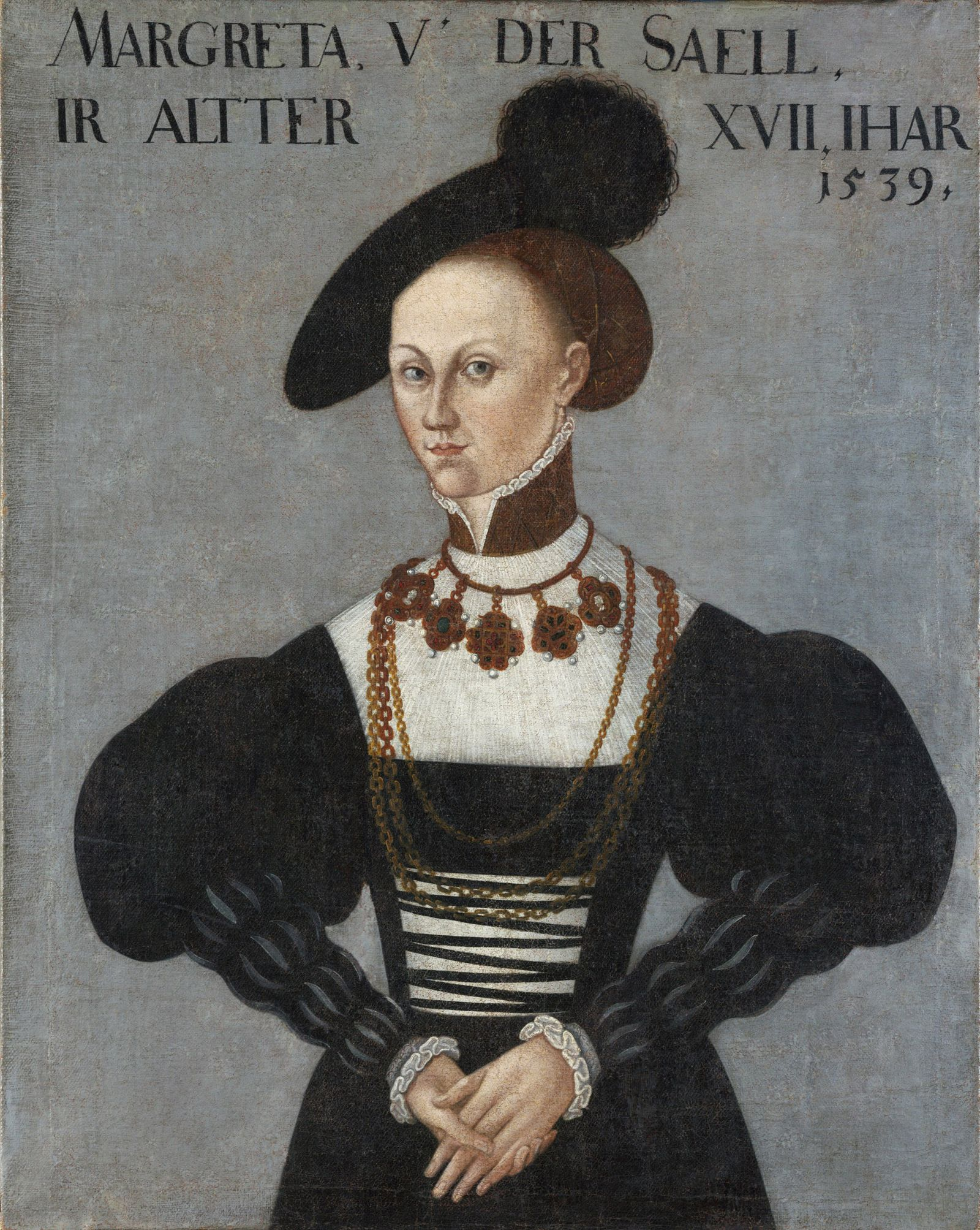 EINMALIGE VERWENDUNG Bildnis Margarethe von der Saale