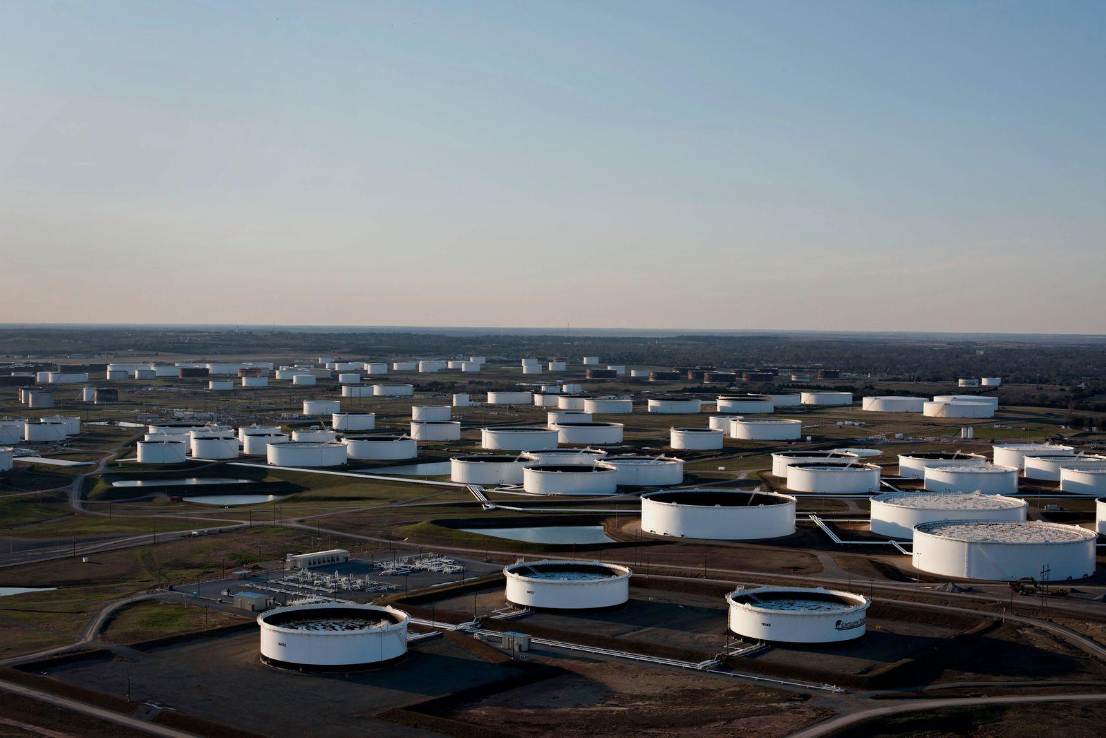Aerial Views Of Largest U.S. Oil Hub As Stockpile Growth Slows