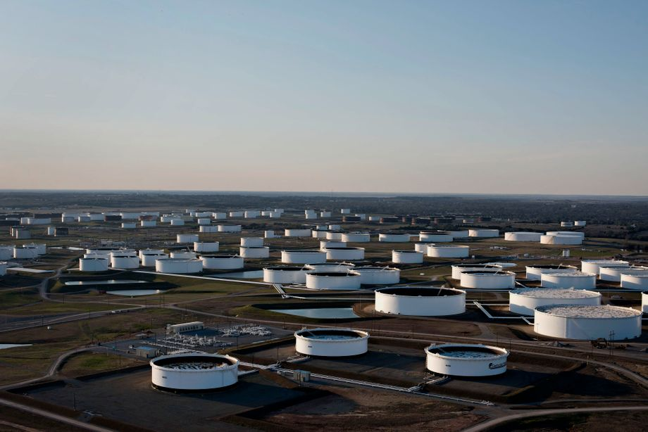 Öltanks in Cushing, Oklahoma