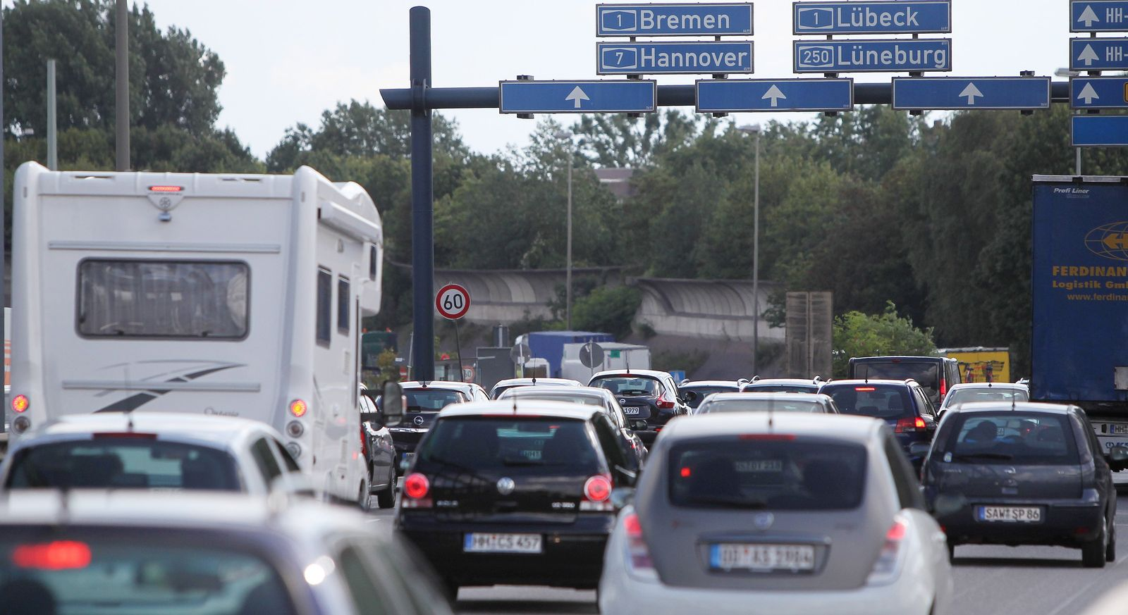 Autobahn Germany cars