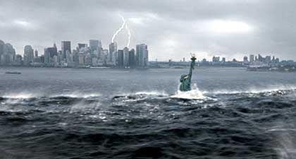 """Szene aus """"The Day After Tomorrow"""": New York erst unter Wasser und dann tiefgekühlt"""