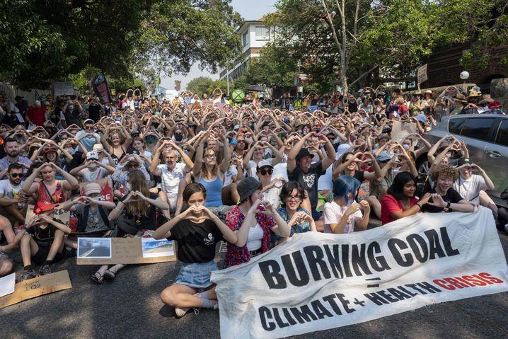 Demo in Sydney: Gegen den klimafeindlichen Kurs des Landes