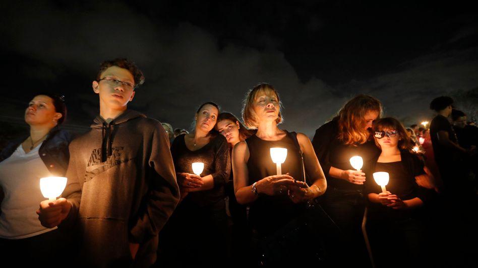 Gedenken an die Opfer des Parkland-Massakers