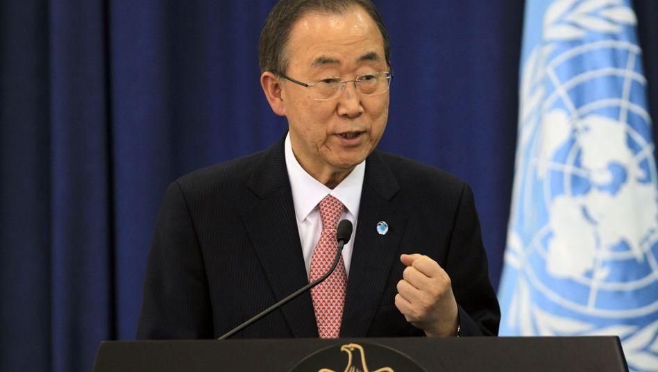 """Uno-Generalsekretär Ban Ki Moon: """"Der Klimawandel hat keinen Reisepass"""""""