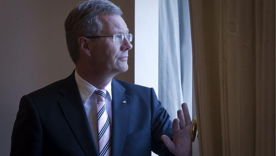Bundespräsident Wulff im Schloss Bellevue: Düstere Zeiten