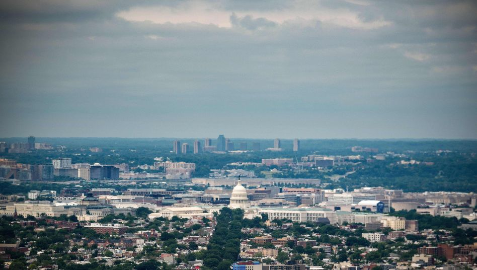 Luftaufnahme des Capitol Hill in Washington, D.C.: Wird der Distrikt bald zum Bundesstaat?