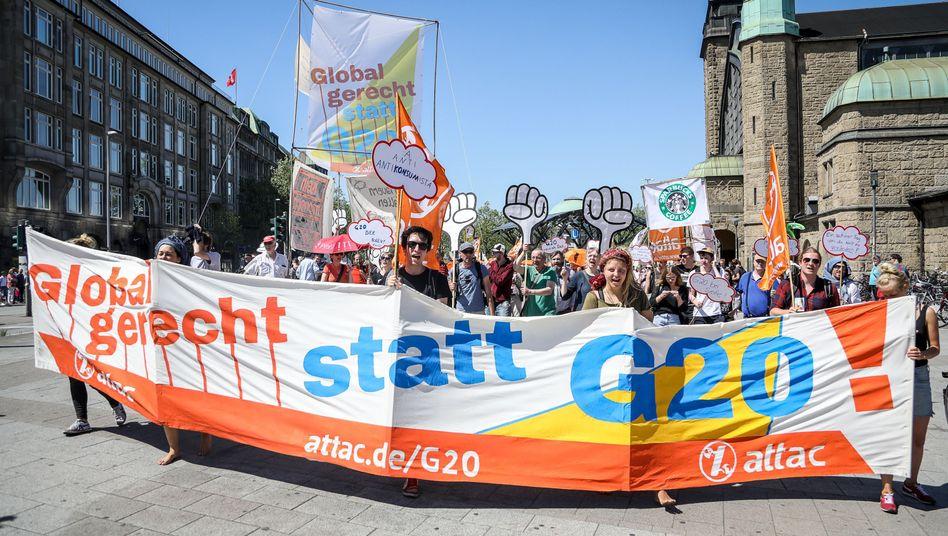 G20-Gegner demonstrieren im Mai gegen den anstehenden Gipfel in Hamburg