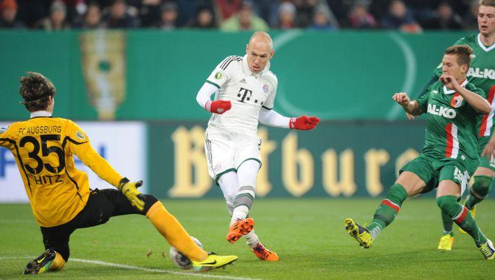 DFB-Pokal: Robbens blutiges Knie