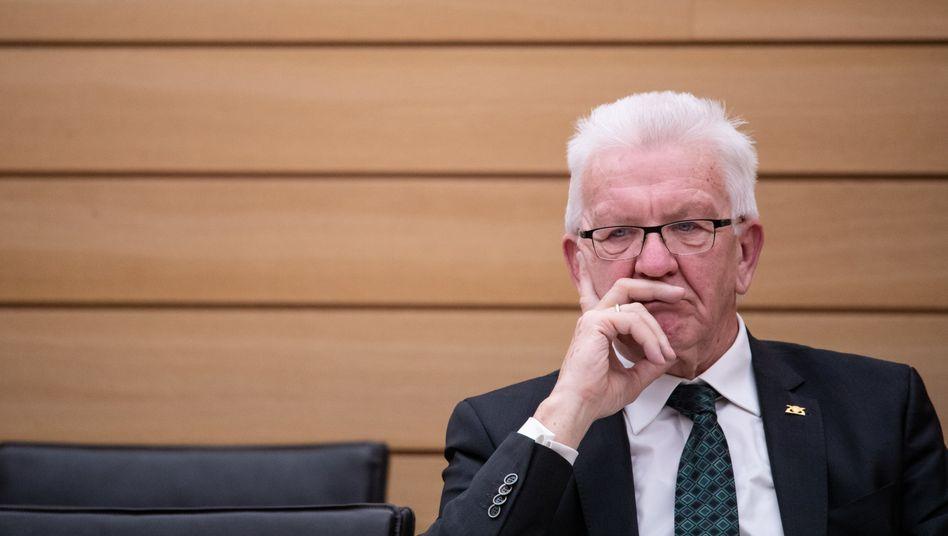 Ministerpräsident Kretschmann im Stuttgarter Landtag