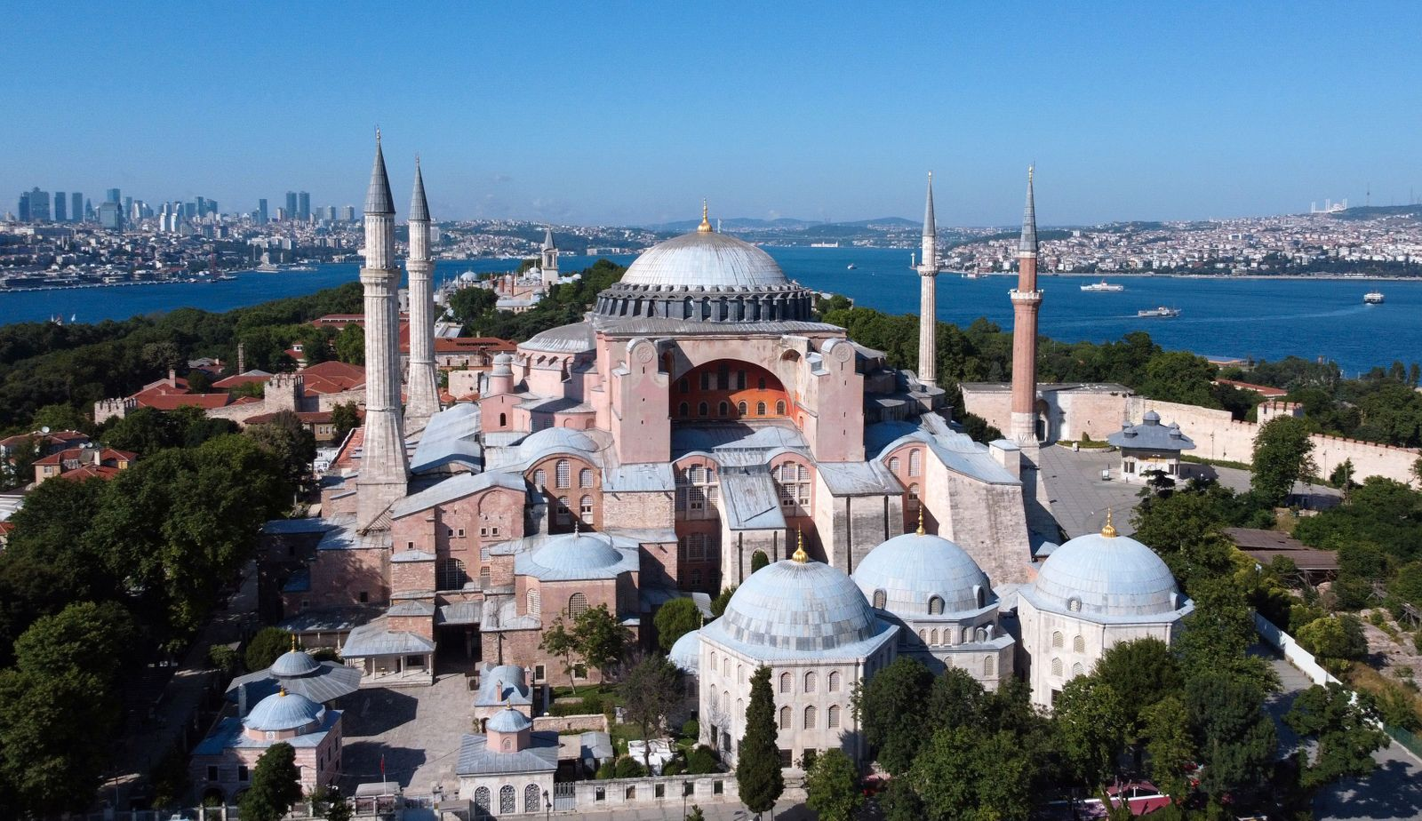 Byzantine-era monument of Hagia Sophia or Ayasofya is seen in Istanbul