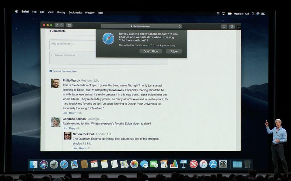 EINMALIGE VERWENDUNG Apple WWDC Facebook