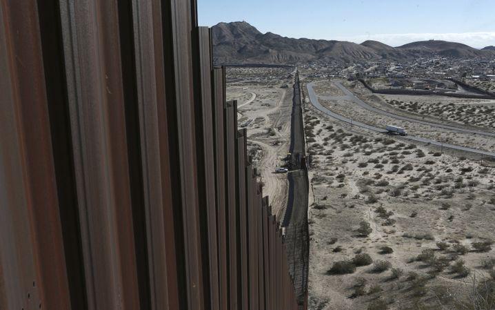 Grenzzaun zwischen New Mexico und Mexiko