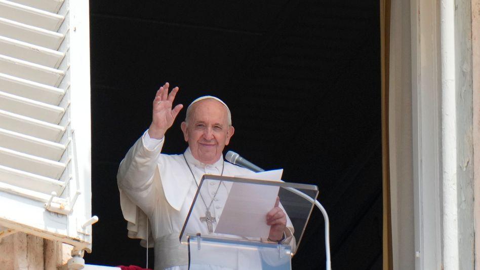 Papst Franziskus am Sonntagvormittag vor seiner Aufnahme im Krankenhaus