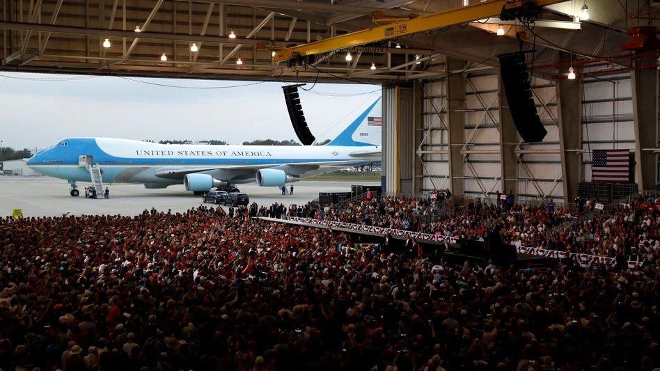Air-Force-One-Maschine des US-Präsidenten in Orlando-Melbourne, Florida