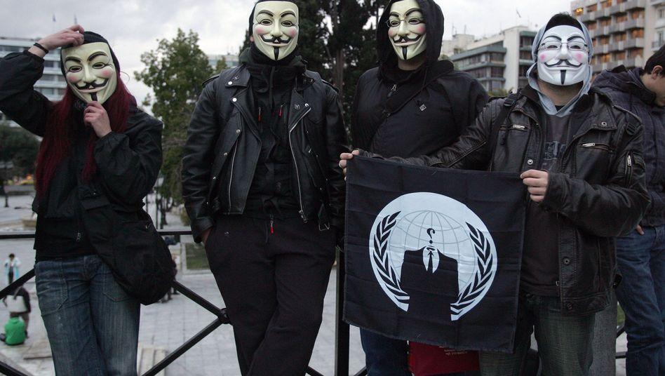 Anonymous-Aktivistin in Griechenland: Protest gegen Acta
