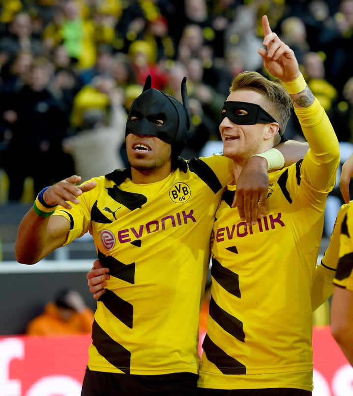 BVB-Profis Aubameyang (l.), Reus: Batman und Robin