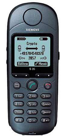 Sonderangebot zum Sonderpreis: Verschlüsselung als Sonderfunktion hebt den Preis dieses Siemens S35 Crypto auf satte 3000 Dollar