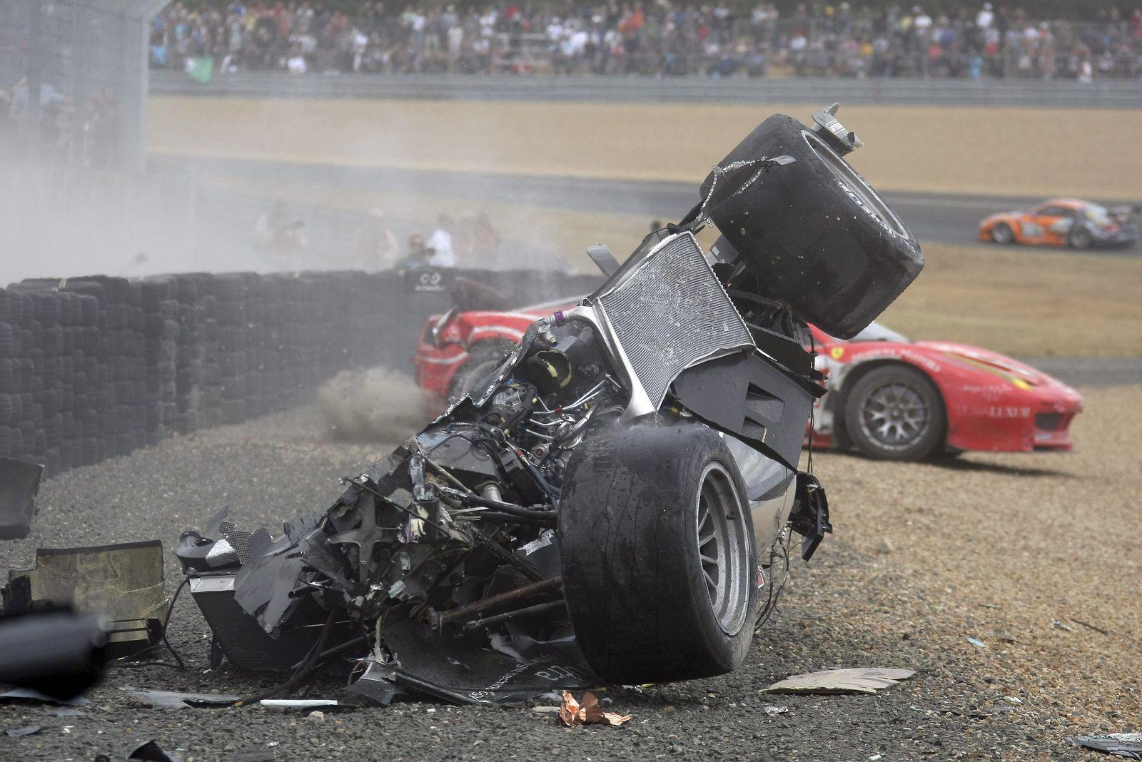 McNish Crash Le Mans