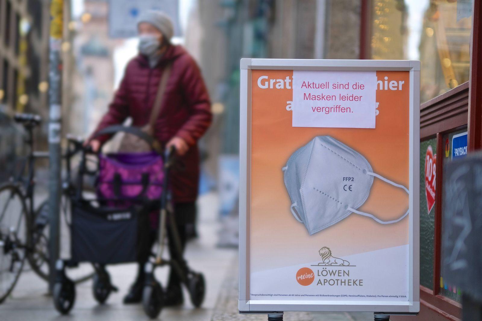 Leipzig, 15.12.2020 Aktuell sind die Masken leider vergriffen. Start der Ausgabe der Gratis-Masken für ältere Menschen