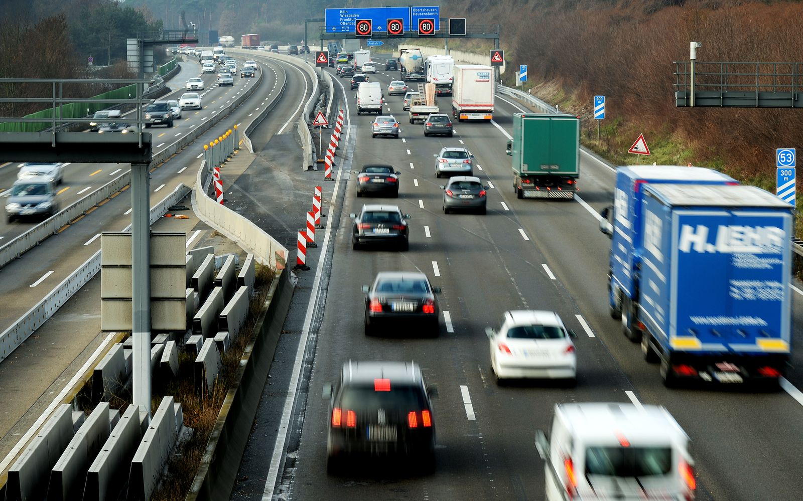 Leer Orte/ Autobahn