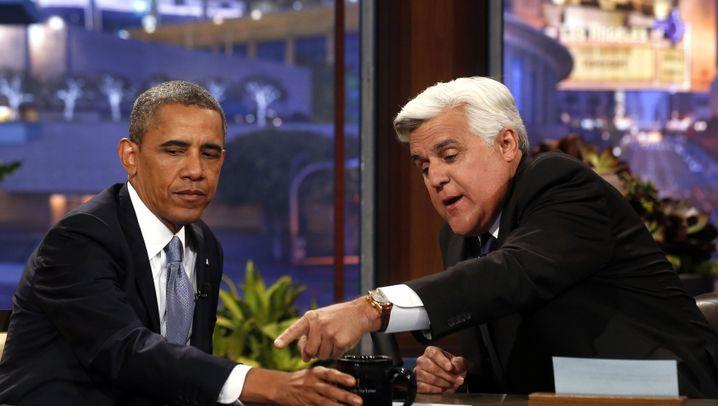US-Präsident Obama bei Jay Leno: Bitte recht freundlich