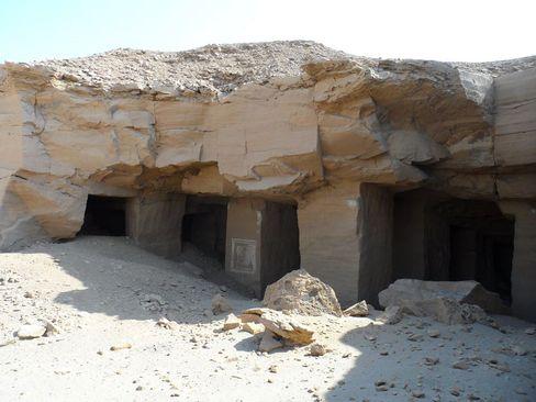 Eingang zum Steinbruch: Von hier wurden Steine für Pharaonen-Tempel geliefert