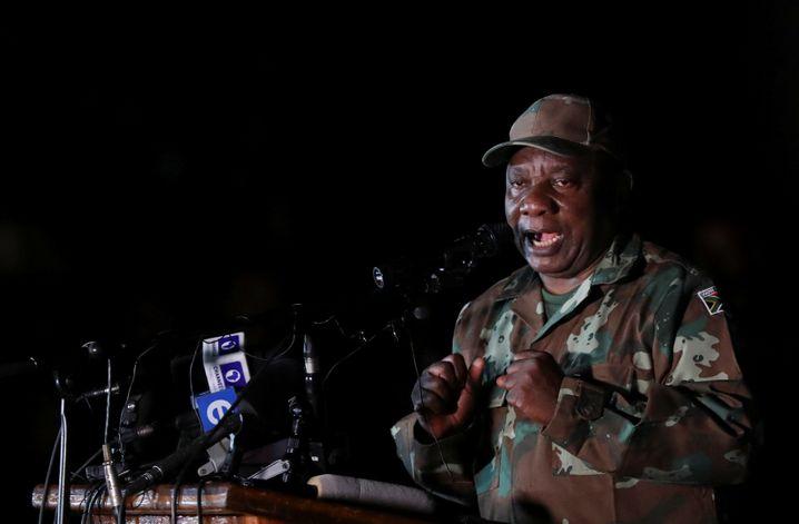 """Cyril Ramaphosa: """"Unsere Aufgabe ist es, Leben zu retten"""""""