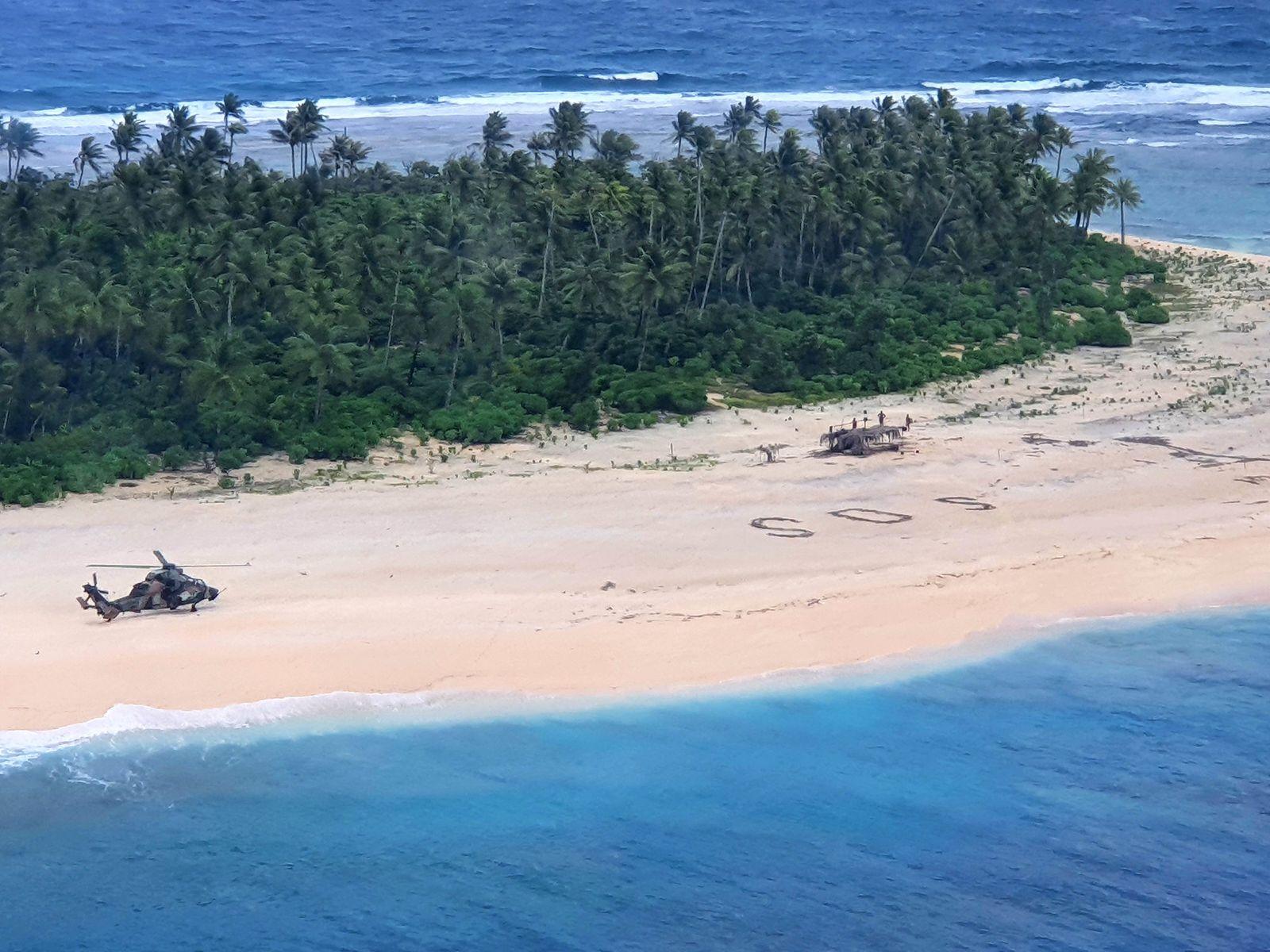 SOS im Sand - Vermisste Segler auf Insel in Mikronesien entdeckt