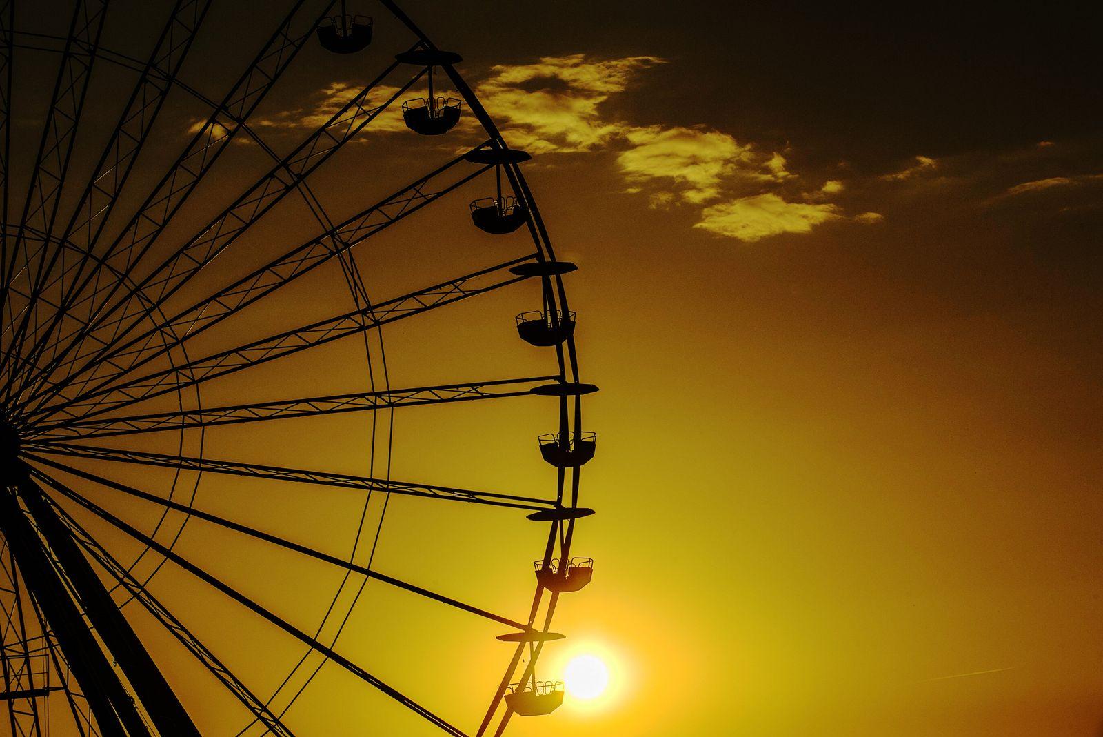 Sonnenglanz am Riesenrad