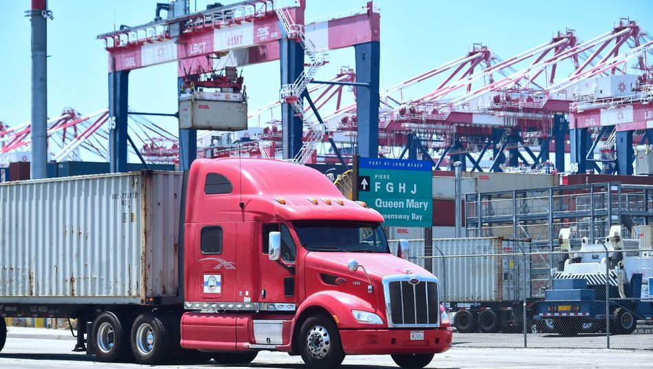 Container-Abfertigung in Long Beach