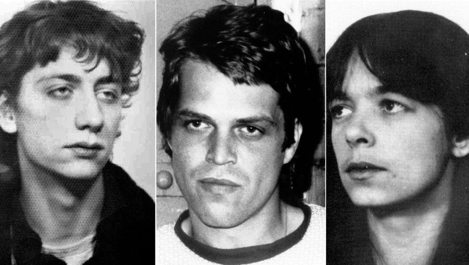 Bilder aus früheren Jahren: Ex-RAF-Terroristen Garweg, Staub und Klette (v. l. n. r.)
