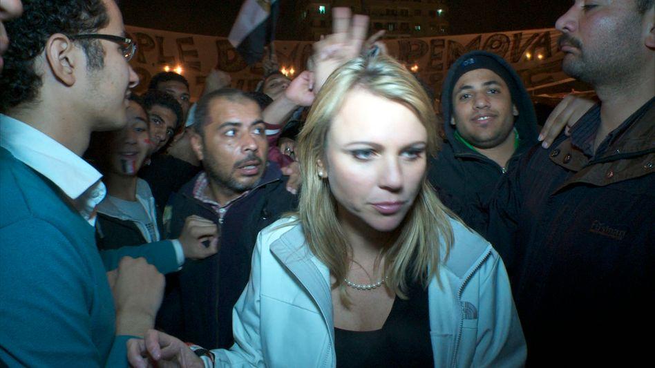 Logan am 11. Februar auf dem Tahrir-Patz in Kairo: 40 Minuten in der Gewalt des Mobs
