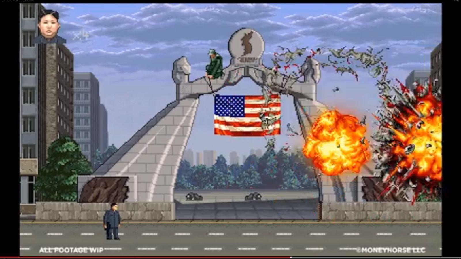 NUR ALS ZITAT Screenshot Nordkorea Computerspiel