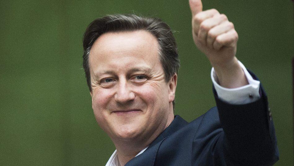 Bleibt mit absoluter Mehrheit Premierminister: Tory-Chef David Cameron