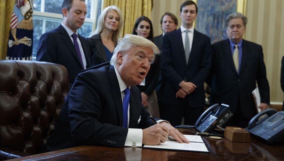 Donald Trump und sein Team