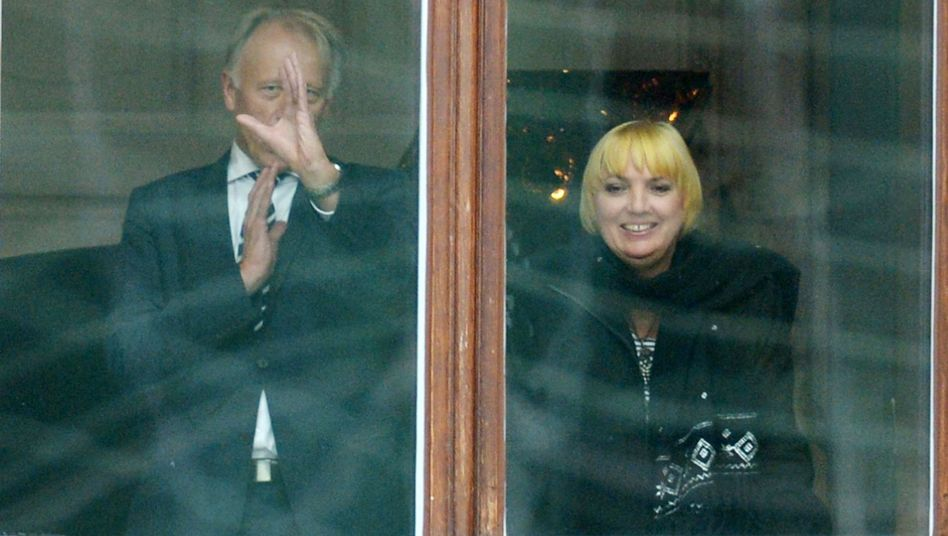 Greens parliamentary floor leader and party co-chair Claudia Roth as preliminary coalition talks with Merkel's CDU began on Tuesday.