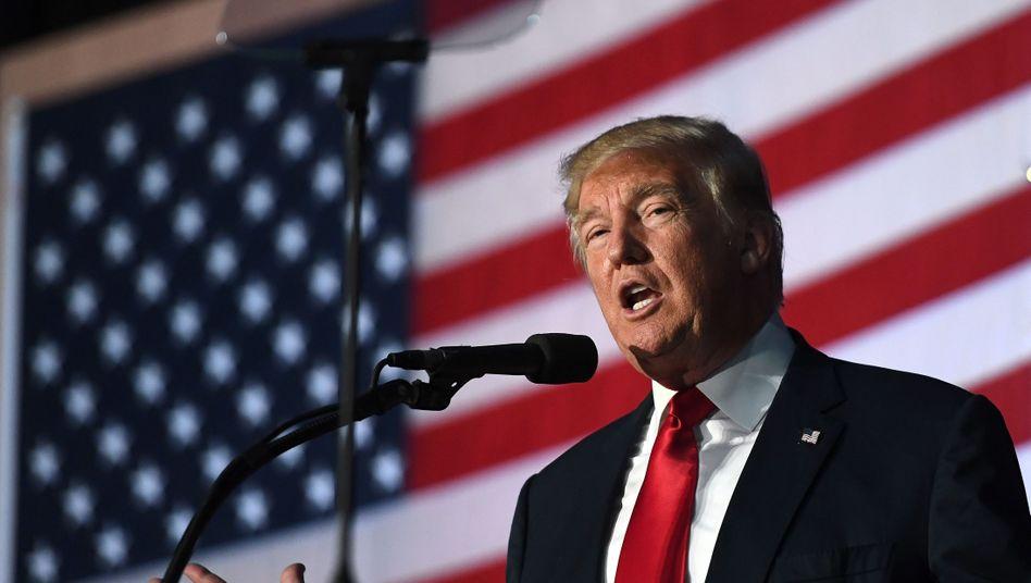 US Republican presidential nominee Donald Trump
