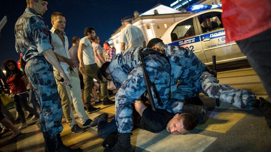 Russische Polizisten im Einsatz