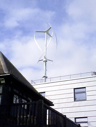 A small wind turbine like this one may be coming soon to a roof near you.